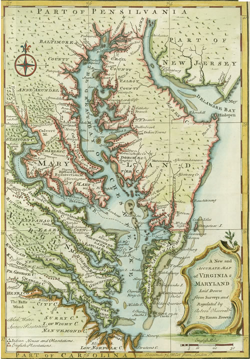 A New And Accurate Map Of Virginia And Maryland